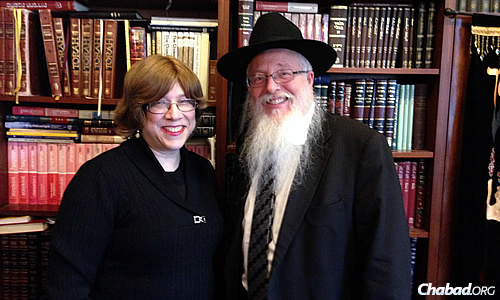 Rabbi Elchonon and Tziporah Lisbon oversee the school, teach classes at their Chabad House and provide outreach to the community.