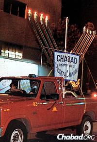 Truckin' it in Century City, Calif., 1987.