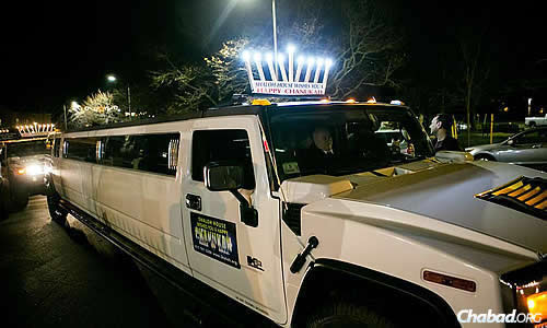 The Shaloh House Jewish Day School Hummer parade in Boston.