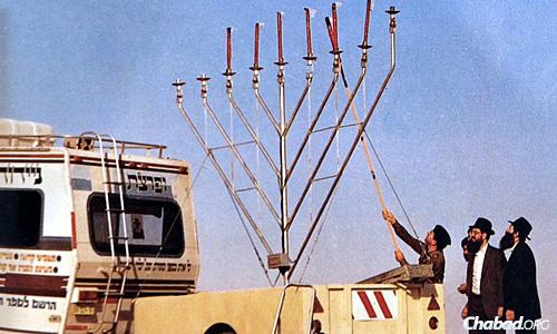 At an Israeli army base near the Syrian, Jordanian and Lebanese border, circa 1987.