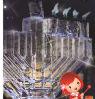 Ice Menorah - Tesco