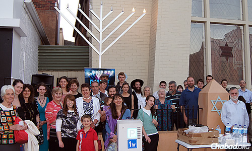 Chabad of Tasmania in Australia holds an annual public menorah-lighting outside the historic Launceston Synagogue, in addition to a car-menorah parade.