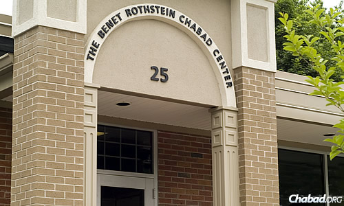 The Chabad Jewish Center of Glastonbury, Conn., at 25 Harris Street (the address that proved so elusive for Walz). It's now officially called the Benet Rothstein Chabad Center.