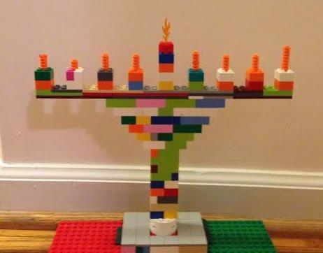Nathan's lego menorah