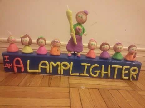 Chaya's lamplighter menorah