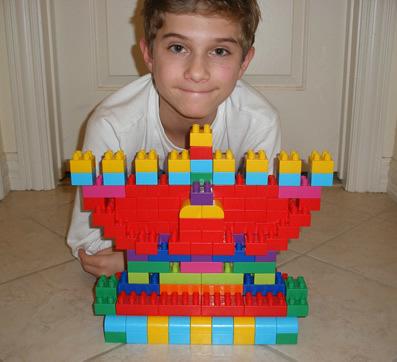 Aaron's lego menorah