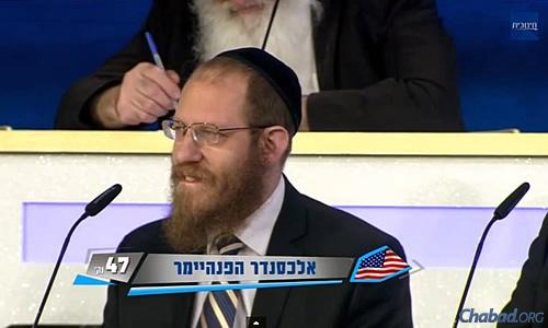 Rabbi Alexander Heppenheimer at the International Bible (Tanach) Contest for Adults in Jerusalem.