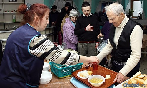 To date, more than 12,000 hot meals have been served to Donetsk residents, many of them elderly.