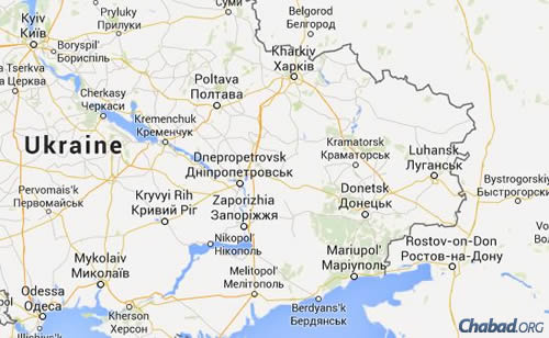 Eastern Ukraine (Map: Google maps)