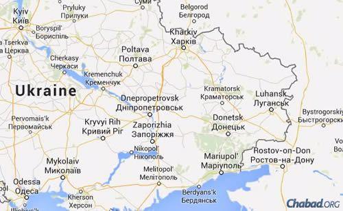Eastern Ukraine (Map: Google maps)