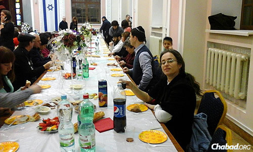 About 150 people participated in the Chanukah-focused program, complete with Shabbat dinner.