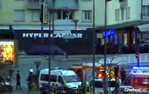 The Hyper Cacher grocery store just outside of Paris was the site of terror Friday afternoon when people were taken hostage during their pre-Shabbat shopping.