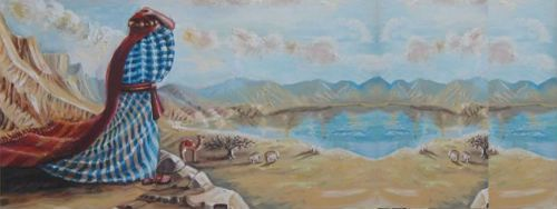 משה משקיף על ארץ ישראל. ציור: אהובה קליין