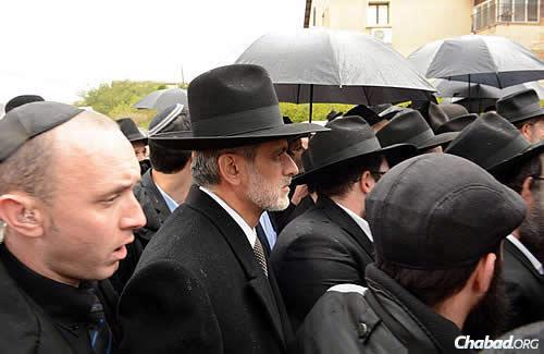 The rain fell in Israel during the proceedings, adding another layer of solemnity. (Photo: JDN)