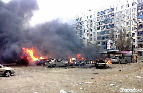 Mariupol, Ukraine, was hit by a massive rocket attack in the Vastochni neighborhood of the city on Shabbat morning. It was the most violent day the city's seen in the past six months. (Photo: City of Mariupol Web Site)