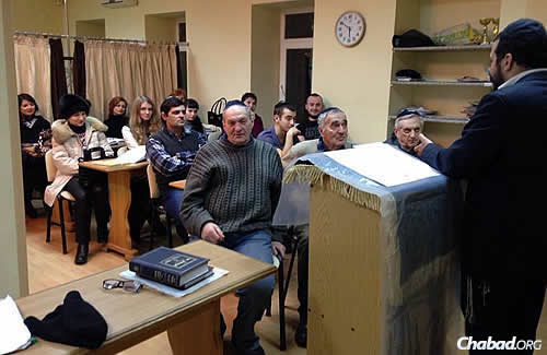 Class in Mariupol, a city on the frontlines, where many Jews have either left or are considering a move before the situation worsens.