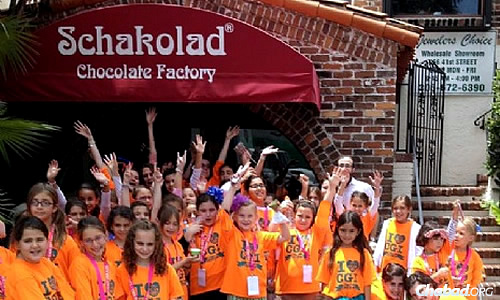 A group of girls visiting the Schakolad Chocolate Factory. South Florida is now brimming with kosher restaurants, cafes and markets where kosher food is readily available.