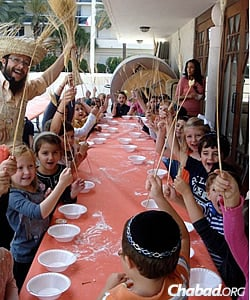 Holiday programs for children abound these days at The Shul of Bal Harbour.