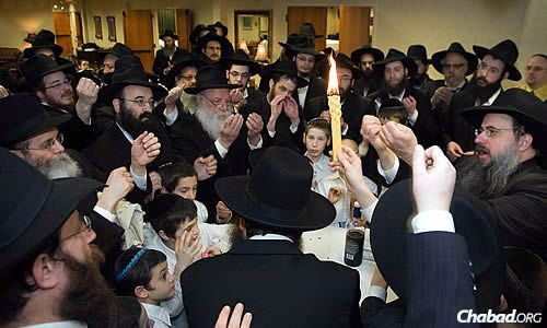 At the same Havdalah, signifying the conclusion of Shabbat and the beginning of a new week.