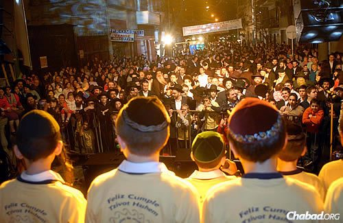 The Jewish history of Argentina is as rich and varied as the rest of its culture. Here, the Tzivos Hashem boys choir performs at a holiday celebration in Argentina.