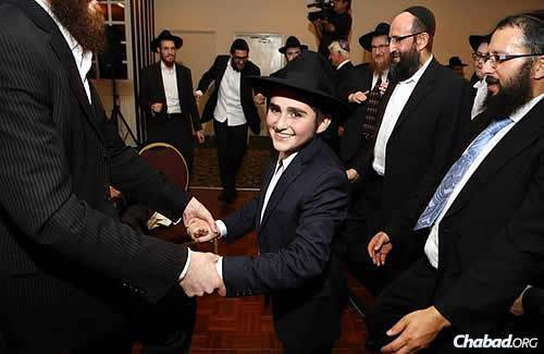 """""""The spirit of the night was so awesome,"""" said Rabbi Eber."""