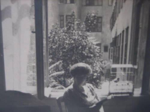 My grandmother's mother, Kamila, sitting in her apartment in Vienna