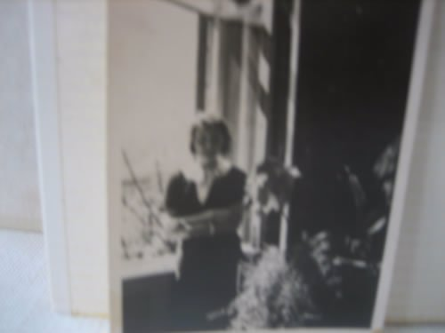 My grandmother, Francie, at the window of the same apartment