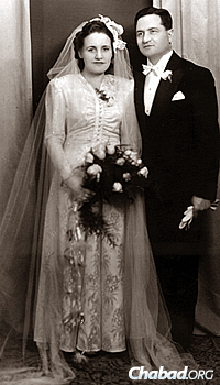 Wedding photo of Marta and Teodor Pasternak, parents of Ivan Pasternak