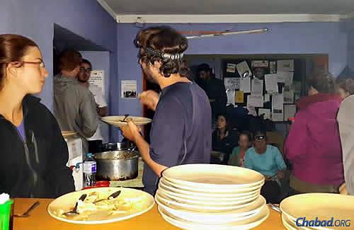 The Chabad House has served as a makeshift shelter and crisis center, especially for young Israeli travelers, since the quake struck.