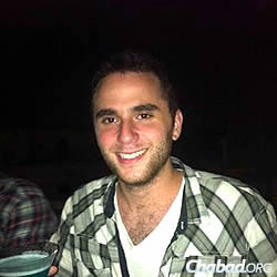 Casey Blustein, 22, got a hold of relatives online to let them know he was safe.