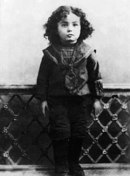 The Rebbe as a child