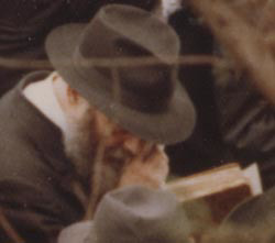 The Rebbe attends the funeral