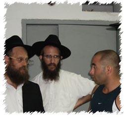 Chabad emissaries visit a bomb shelter in Nahariya