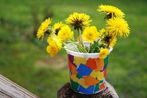 Decorative Flower Vase Childrens Crafts Jewish Kids