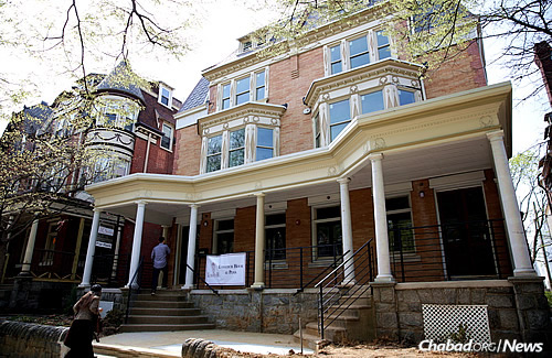 The Lubavitch House at the University of Pennsylvania in Philadelphia, which just underwent a multimillion-dollar expansion and renovation. (Photo: Bentzi Sasson)