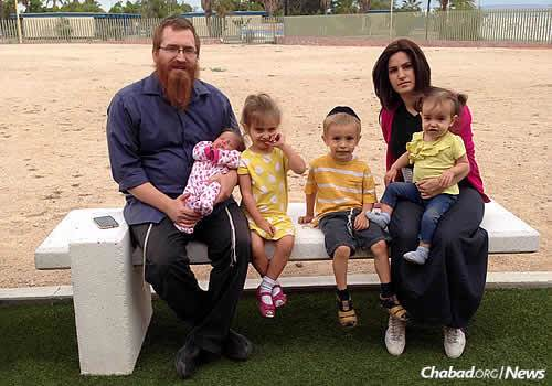 Rabbi Alexander and Esther Piekarski, co-directors of Beth Yona-Chabad Jewish Community of La Paz, Mexico, and their children, are looking forward to rabbinical students joining them for Shavuot, thanks to a new program.