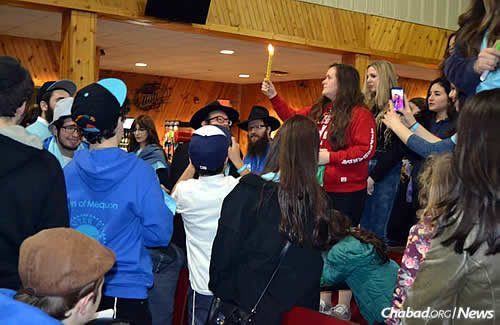 The Havdalah ceremony that marks the conclusion of Shabbat on Saturday night.