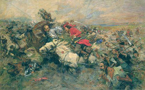 פרעותיו של בוגדן חמלניצקי. ציורו של ניקולאי סמוקיש