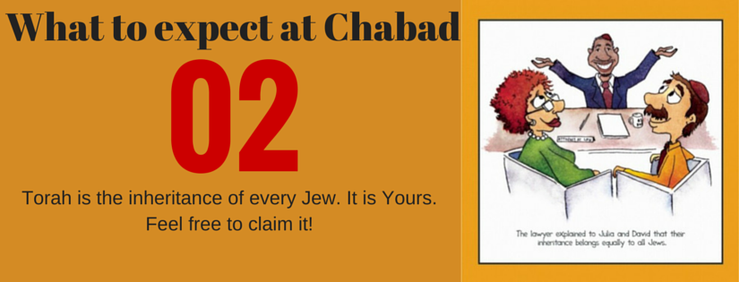 what to expect at chabad2