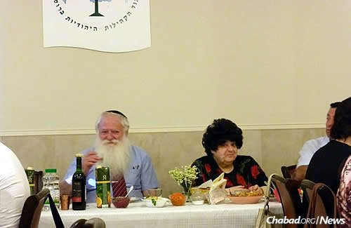 The rabbi and his wife Irina, who passed away last year.
