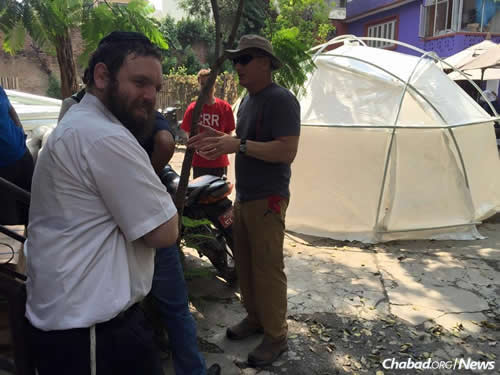 The rabbi and his wife are working hard to get Nepalis what they need right now, with plans in the works to help build more permanent shelters for them where possible. (Photo: Chabad of Nepal)