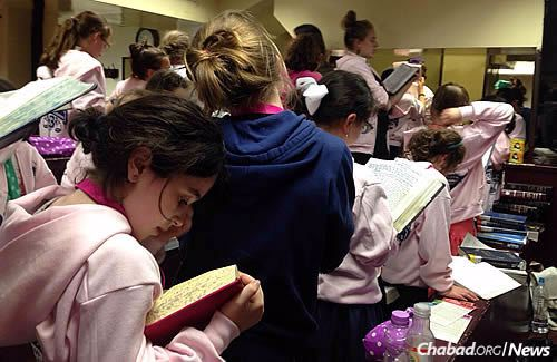 Time for prayer before hitting their other books.