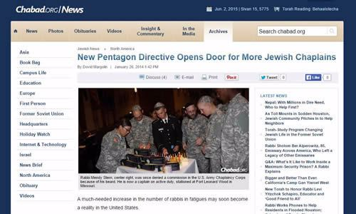 The award-winning article by Dovid Margolin featured decisions within the U.S. military to allow bearded rabbis to serve as chaplains and the impact this new development will likely have on Jewish life in the U.S. armed services.