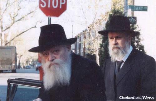 Rabbi Klein with the Rebbe in Brooklyn, N.Y.