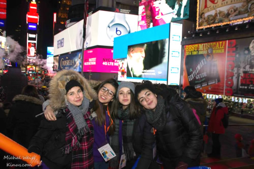 Havdala à Times Square lors du grand Shabbaton international