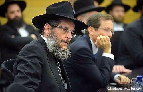 Rabbi Yosef Yitzchak Aharonov (Photo: Meir Alfasi)