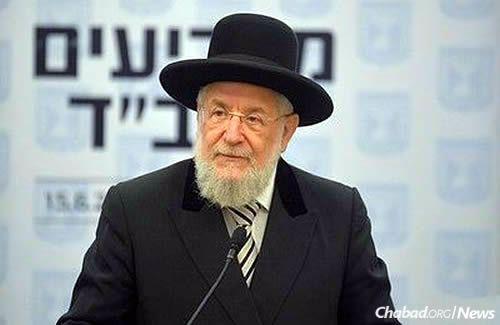 Former Chief Rabbi Israel Meir Lau (Photo: Meir Alfasi)