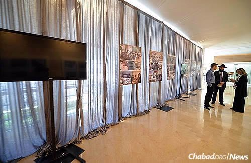 The exhibit is timed with the anniversary of the Rebbe's passing on the third day of the Hebrew month of Tammuz, which begins this year on the night of June 19. (Photo: Meir Alfasi)