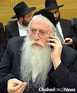 Deputy Minister of Education Meir Porush (Photo: Meir Alfasi)