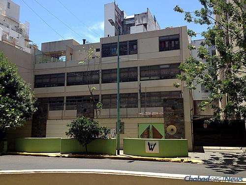Chabad's Wolfsohn-Tabacinic nursery through seventh-grade Jewish day school in the Belgrano neighborhood of Buenos Aires